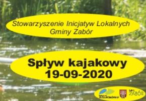 Ilustracja do informacji: Spływ kajakowy 19.09.2020 r.